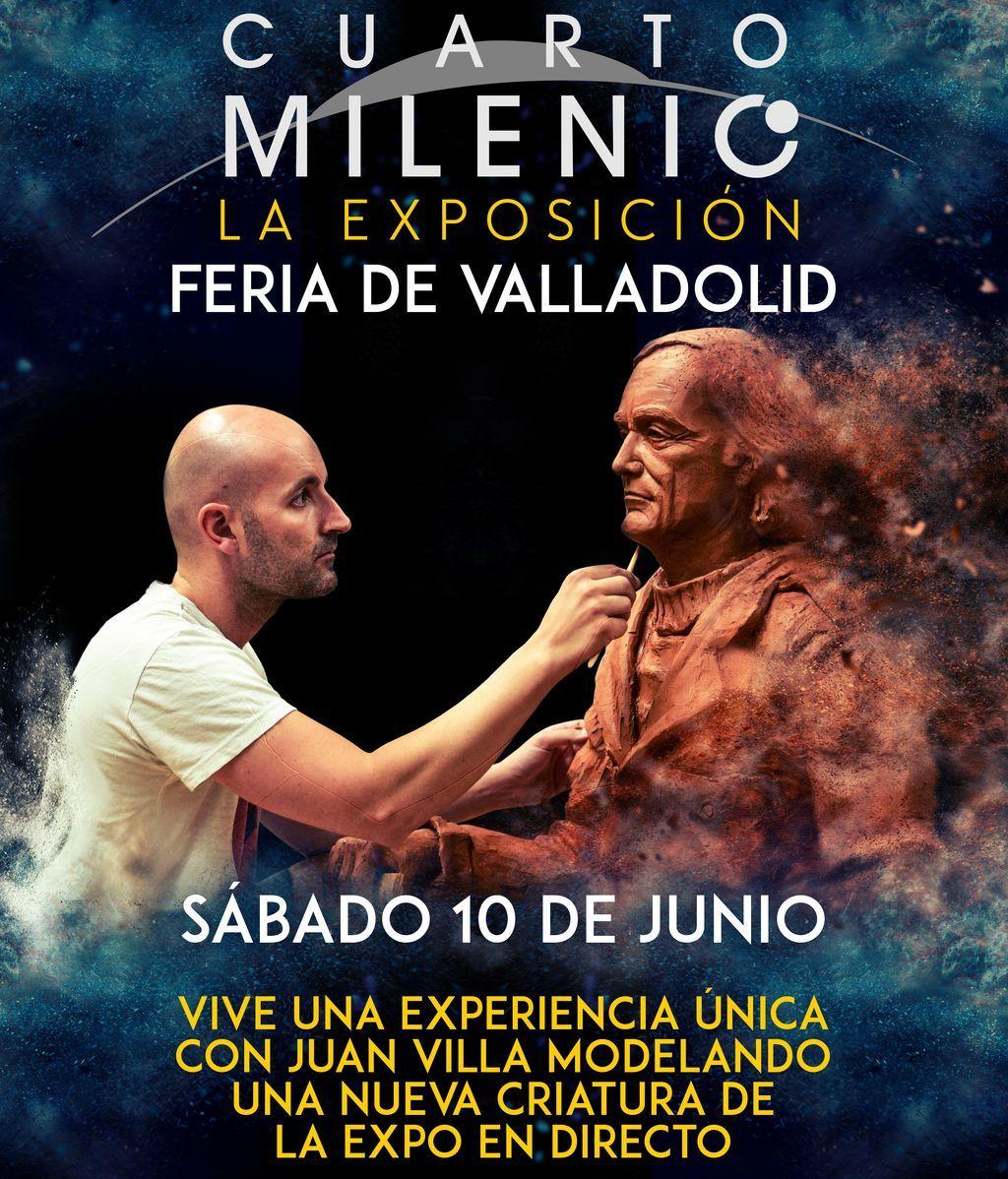 Por primera vez,  en la Exposición de Cuarto Milenio de Valladolid, Juan Villa modelará una escultura en directo
