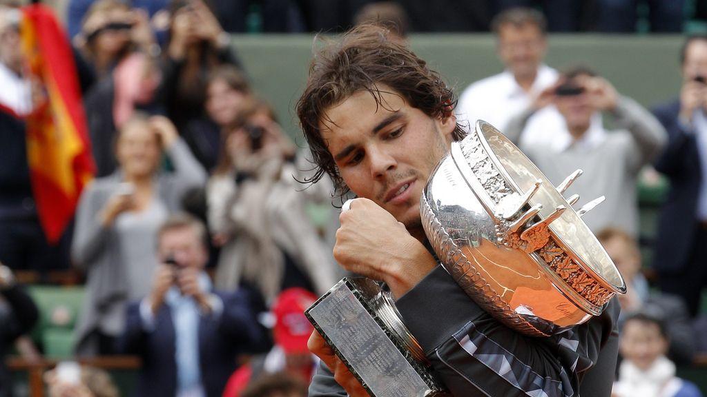 Leyenda Rafa Nadal: las 10 imágenes con los títulos de Roland Garros