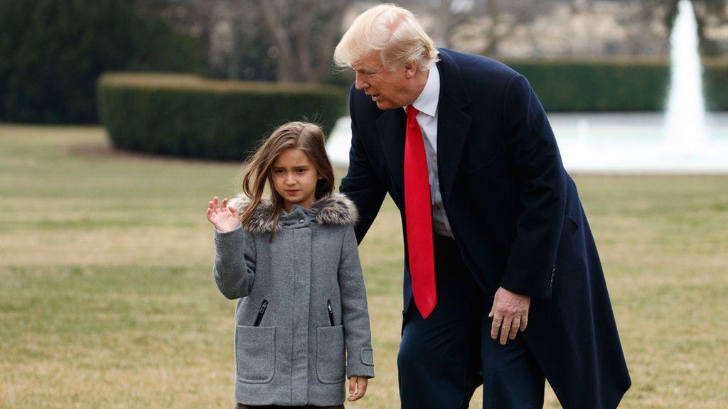 La nieta de Trump desvela que de mayor quiere ser marine