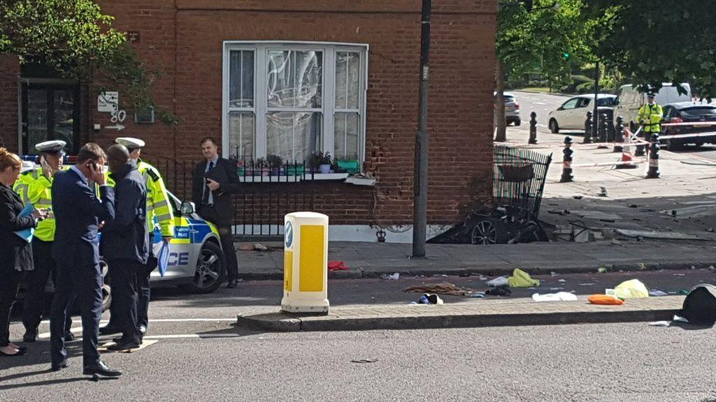 Un muerto y varios heridos por un accidente de tráfico en el centro de Londres