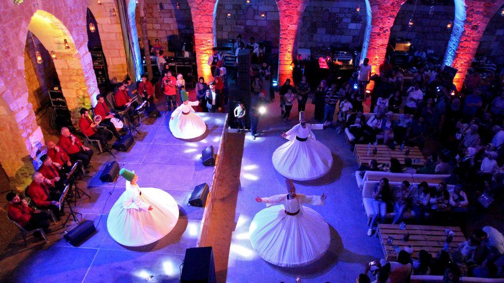 Baile tradicional en Trípoli para celebrar el Ramadán