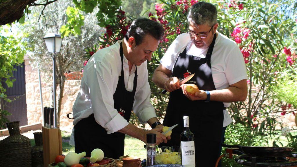 Florentino Fernández y Pepe Ribagorda, cocinar con la sonrisa puesta