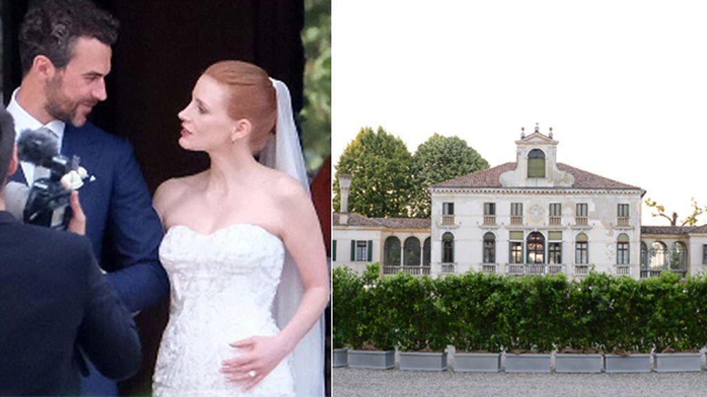 En una villa veneciana de lujo y con mucho vip: la boda de Jessica Chastain y Gian Luca Passi