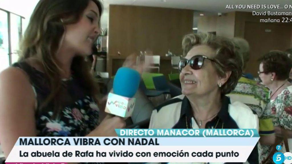 """Abuela Rafa Nadal: """"Me ha llamado, pero no se lo he cogido para escuchar lo que decían en la tele"""""""
