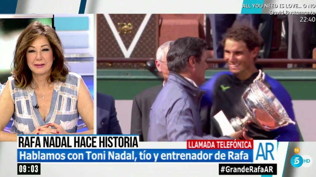 """Toni Nadal, tío y entrenador de Rafa, habla de su retirada: """"Yo  creo que ha llegado mi hora"""""""
