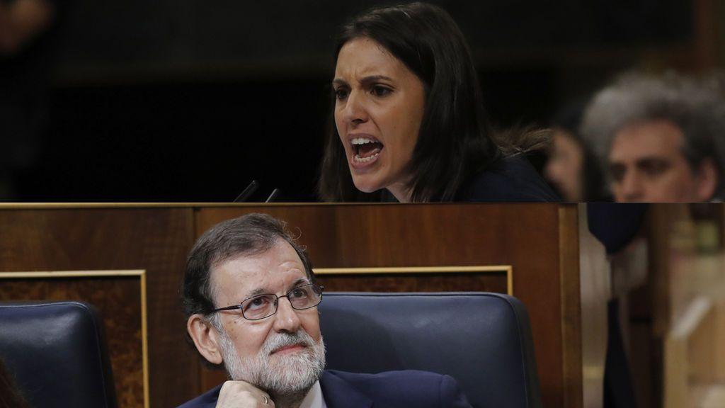 Irene Montero y Mariano Rajoy