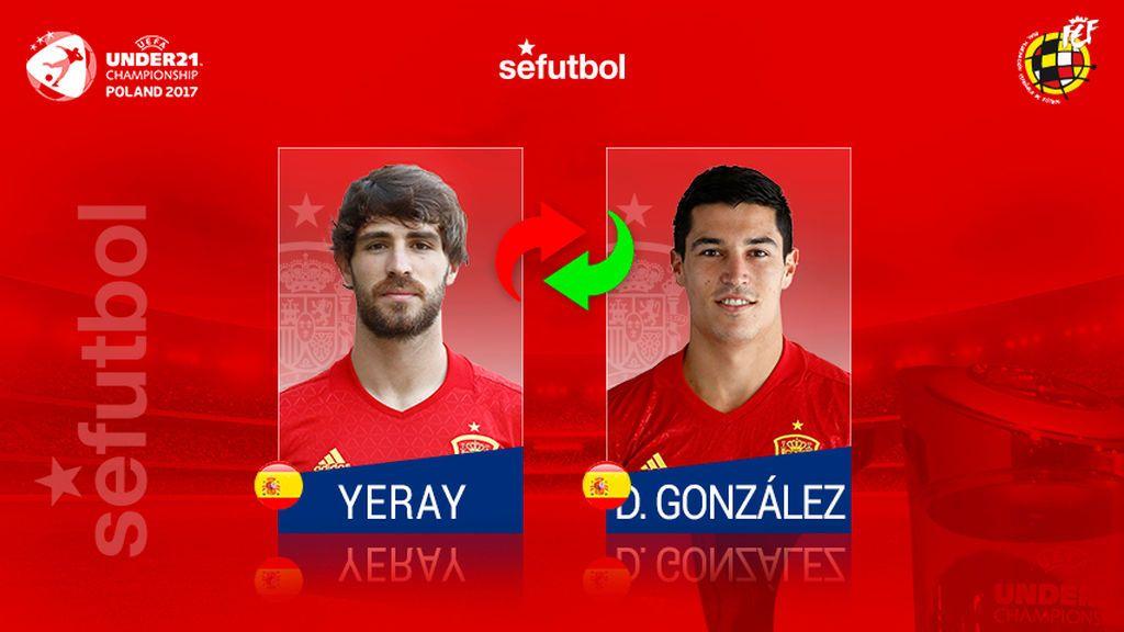 Diego González será el sustituto de Yeray Álvarez en el Europeo sub-21