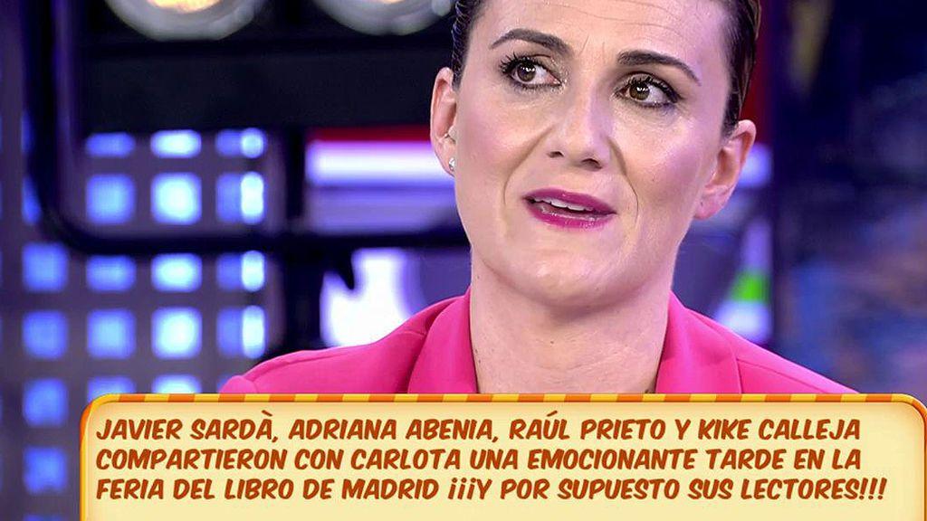 Carlota Corredera, emocionada ante el cariño de los lectores