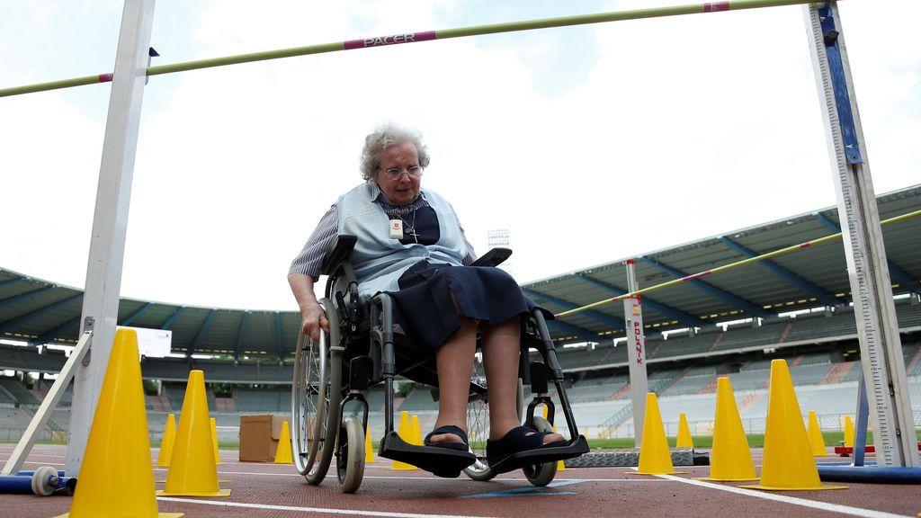 """""""Olimpiadas para Mayores"""" en el estadio King Baudouin en Bruselas"""
