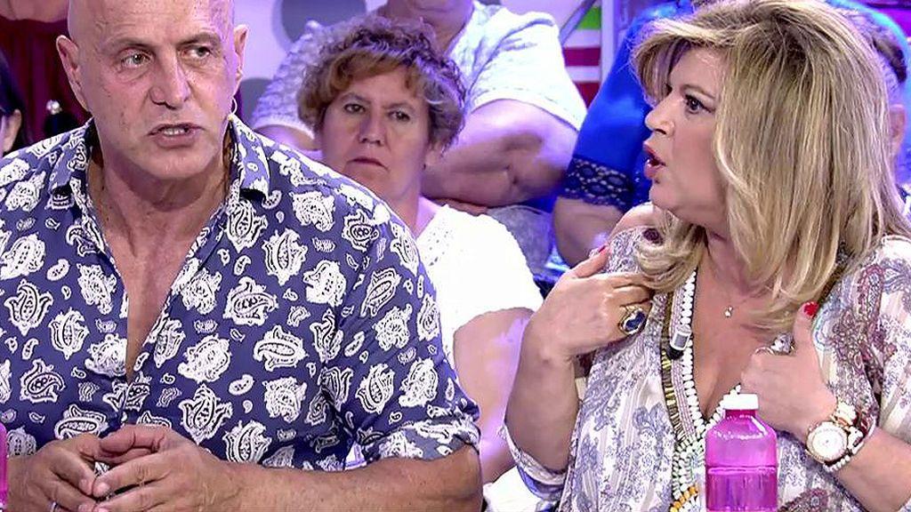 El mosqueo de Terelu Campos con Kiko Matamoros por un comentario sobre Bigote