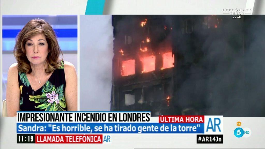 """Sandra, española residente en Londres, sobre el incendio: """"Es horrible, la gente se tiraba de la torre"""""""