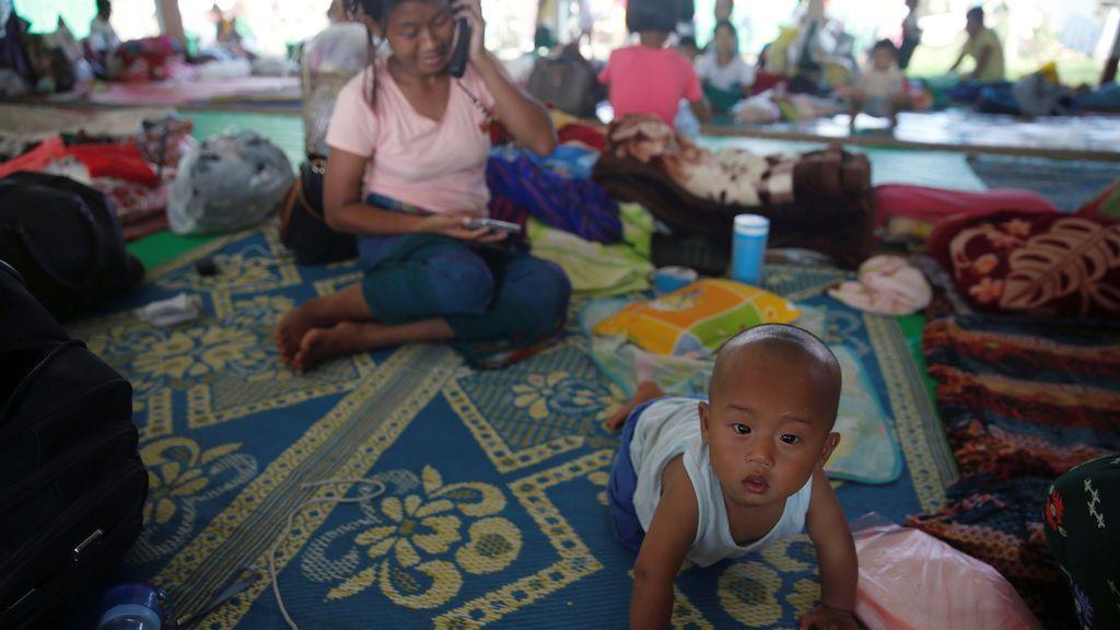 Iglesia cristiana en el municipio de Tanai, Myanmar