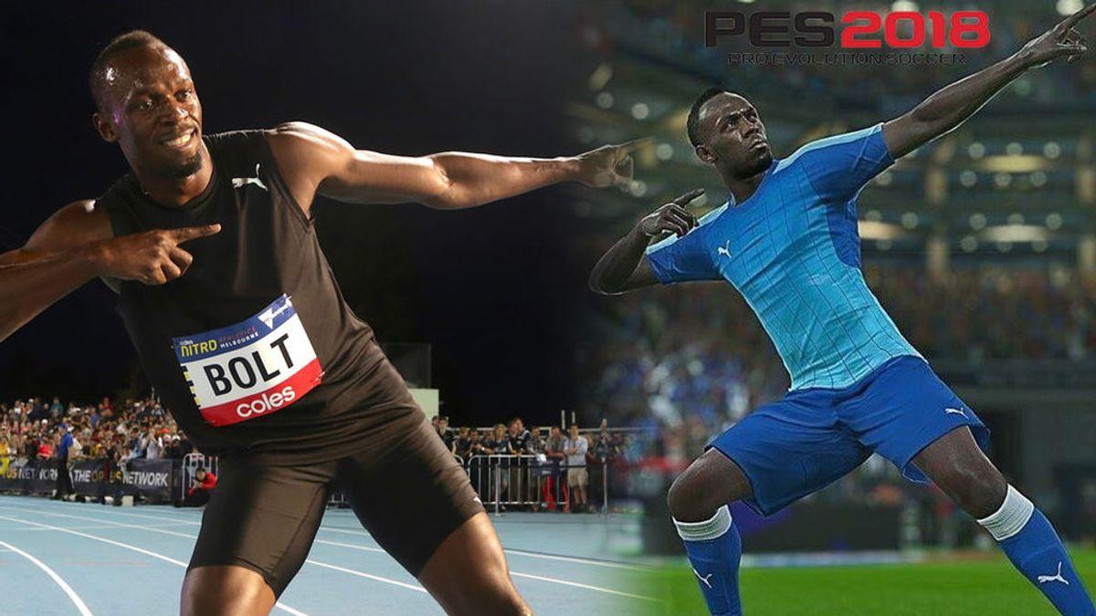 ¡Bombazo! Usain Bolt se hará futbolista en Pro Evolution Soccer 2018