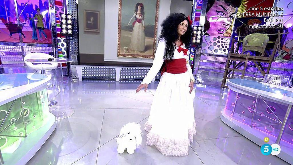 'Sálvame' nos presenta a la Duquesa Gema López de Alba de blanco