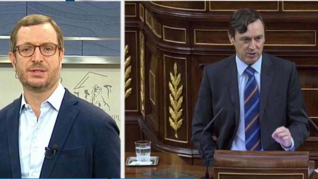 """Maroto, de la reacción de Podemos al comentario de Hernando: """"Deberían mirarse al espejo antes de tener la piel tan fina"""""""