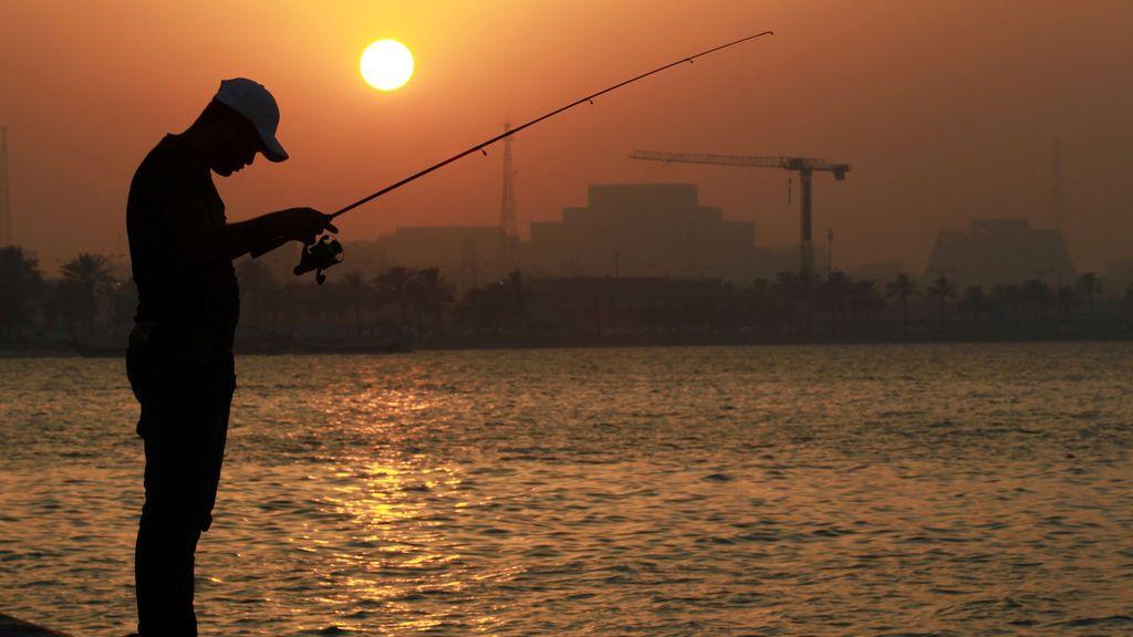 Puesta de sol en Doha, Qatar