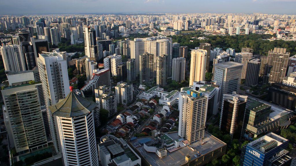 Singapur desde el aire
