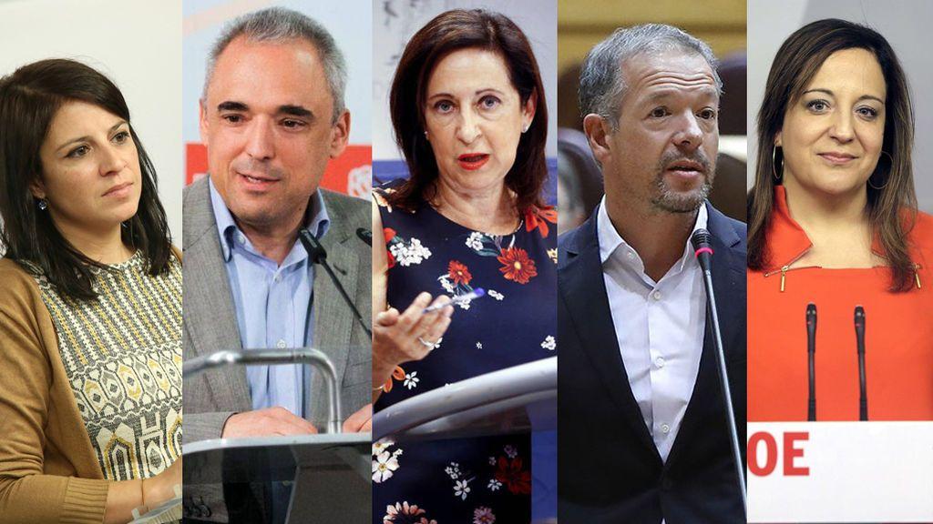 Las caras del nuevo PSOE de Pedro Sánchez