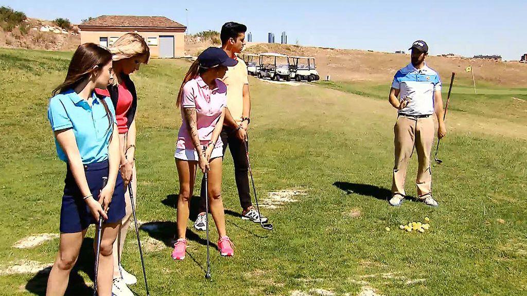 Yera sudó la gota gorda jugando al golf 😂😂