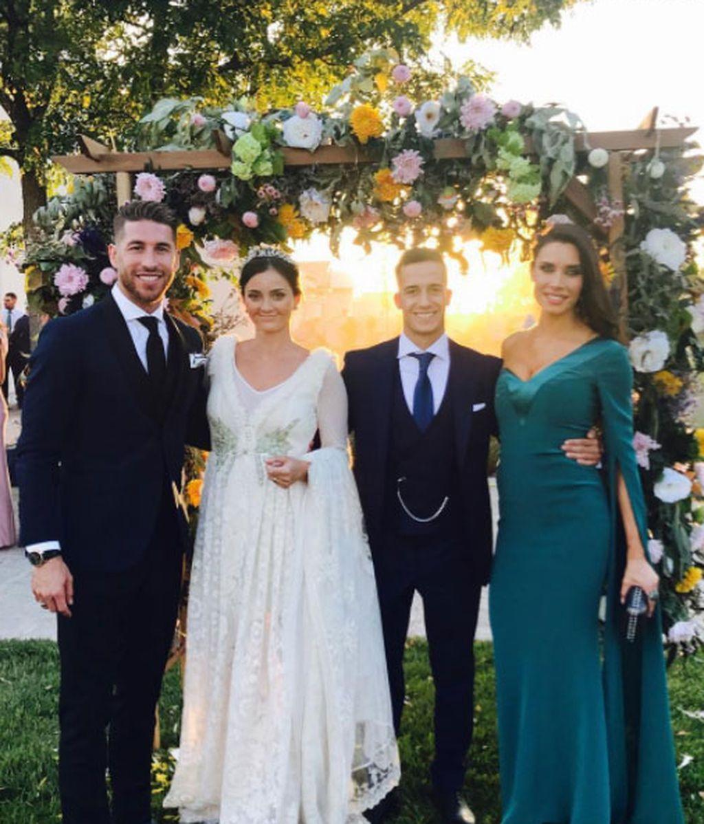 Sergio ramos pilar rubio boda lucas vazquez