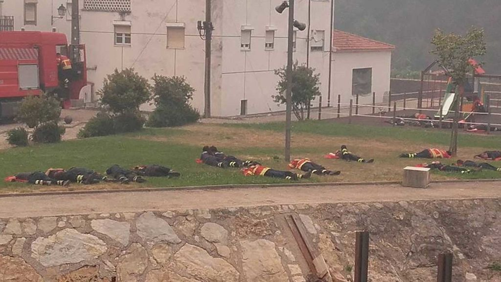 Bomberos portugueses