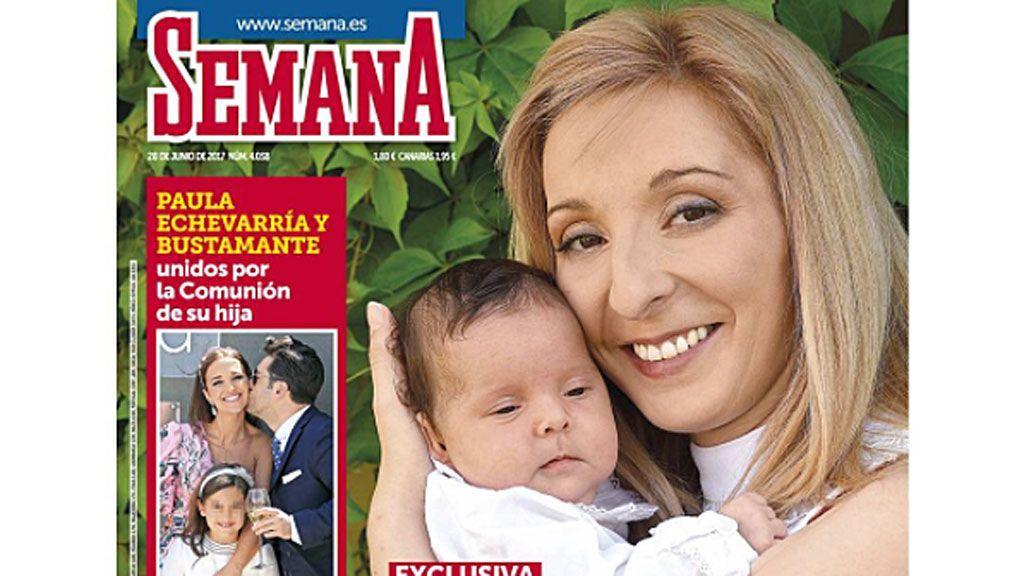 Michu presenta a su hija con José Fernando