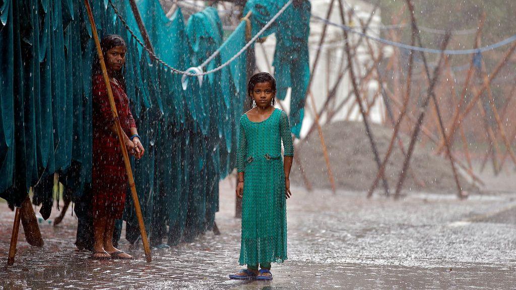 Lluvias en Nueva Delhi, la India