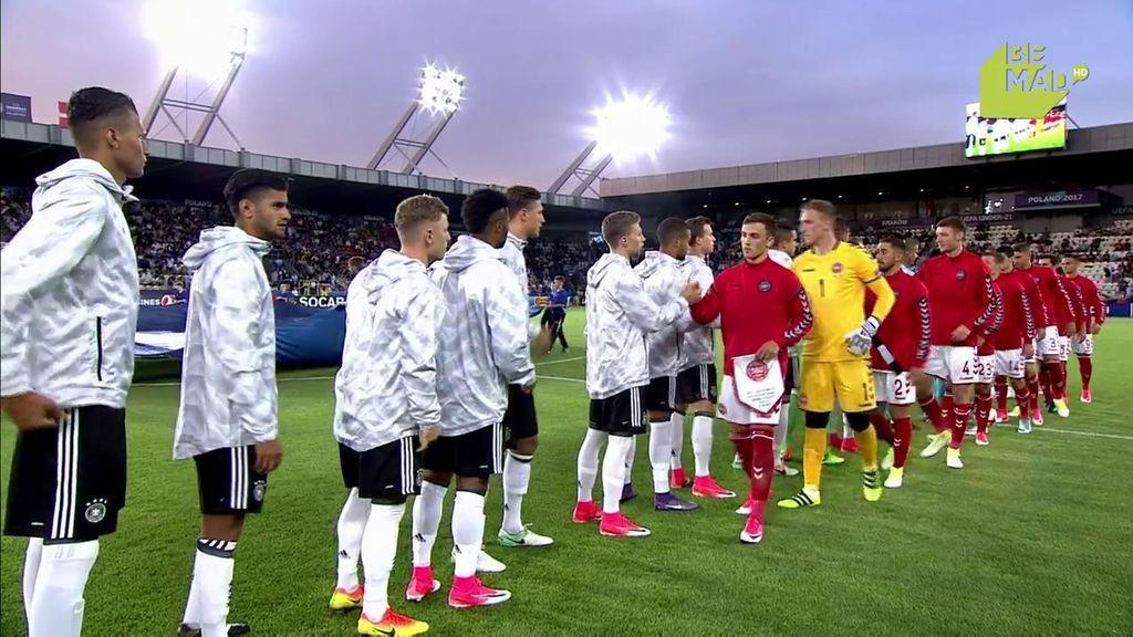 Euro Sub-21, grupo C: Alemania-Dinamarca