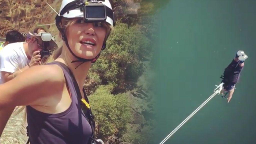 Tres, dos, uno... ¡Raquel Meroño 'se tira por un puente' por una buena causa!