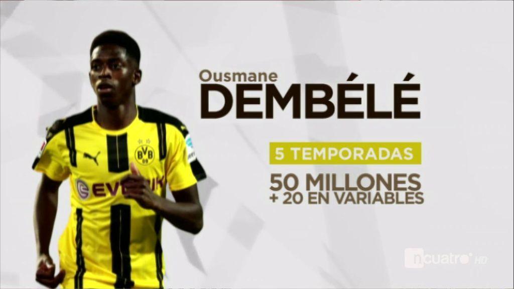 Acuerdo entre Dembélé y el Barça por cinco temporadas y 50 millones de euros