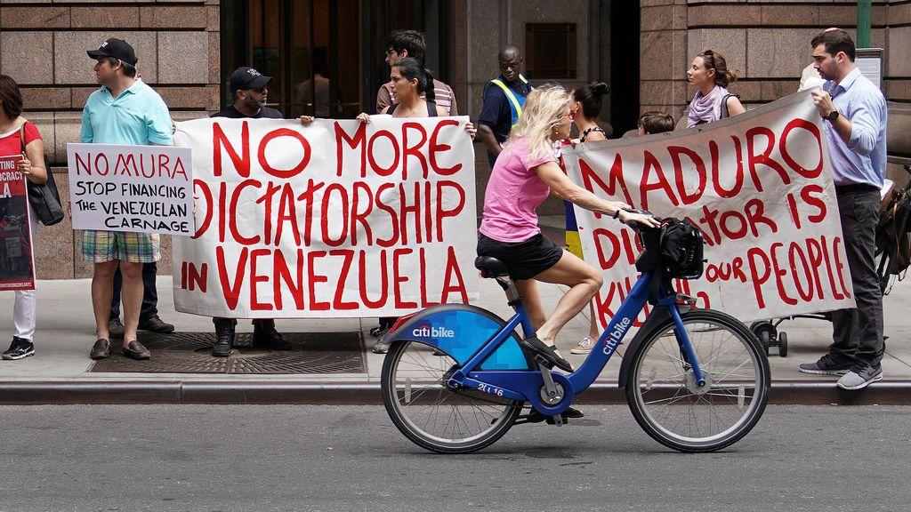 Manifestaciones contra el gobierno de Maduro en Nueva York