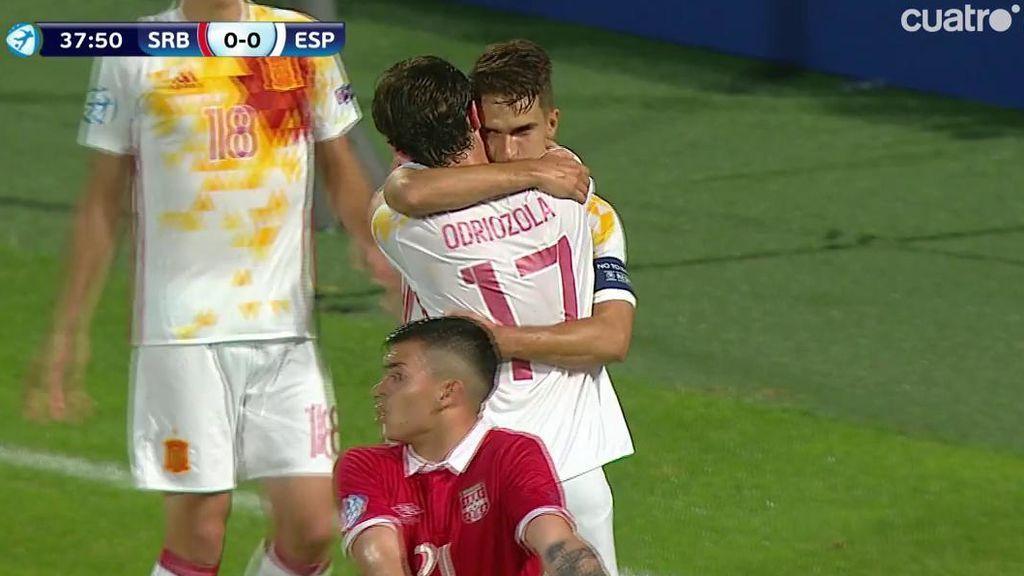 Así fue la maravilla que hizo Odriozola para asistir a Denis Suárez en el gol de España