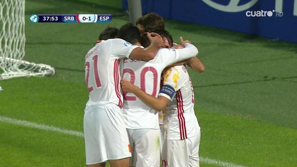 ¡Gol de denis Suárez! España abre el marcador con una buena jugada por banda