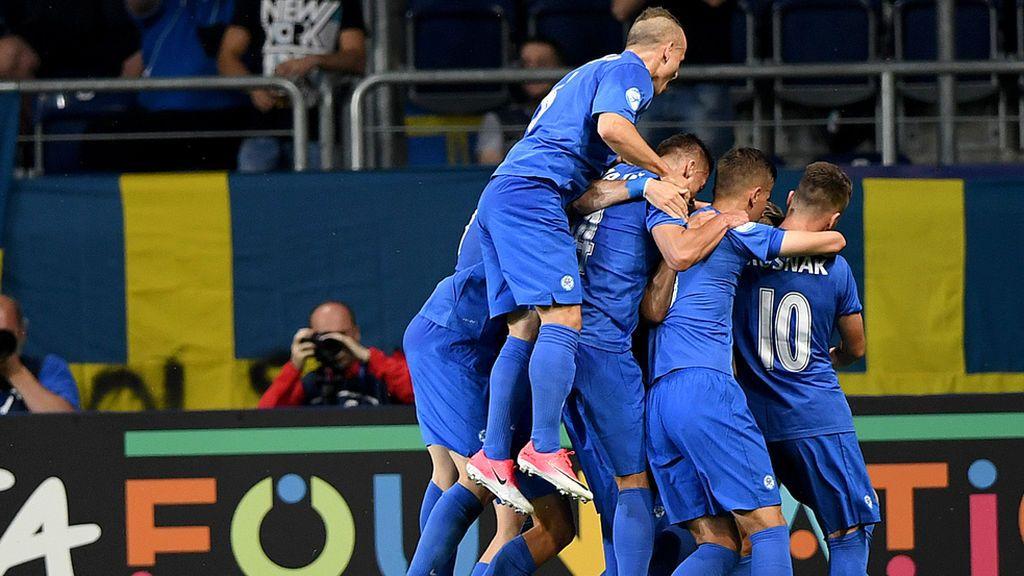 Euro Sub-21, grupo A: Eslovaquia - Suecia
