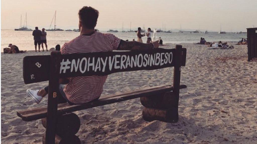 """Hugo, muy melancólico en redes, en su primer verano separado de Sofía: """"No  hay verano sin beso"""""""