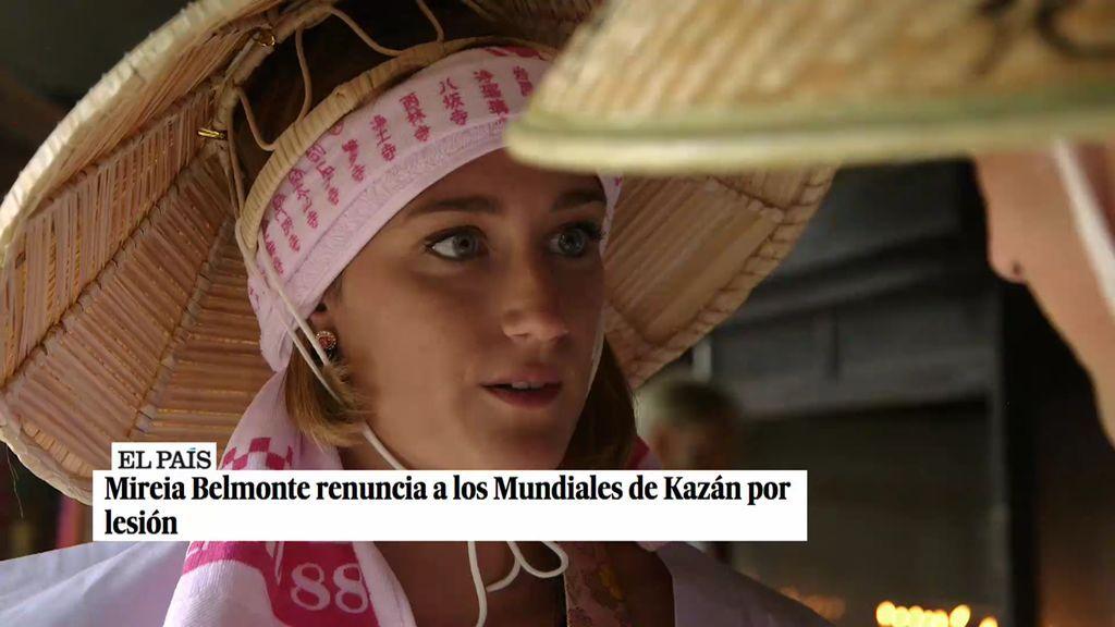 Mireia Belmonte se emociona hablando de su grave lesión que hizo que tuviera que renunciar a los Mundiales de Kazán
