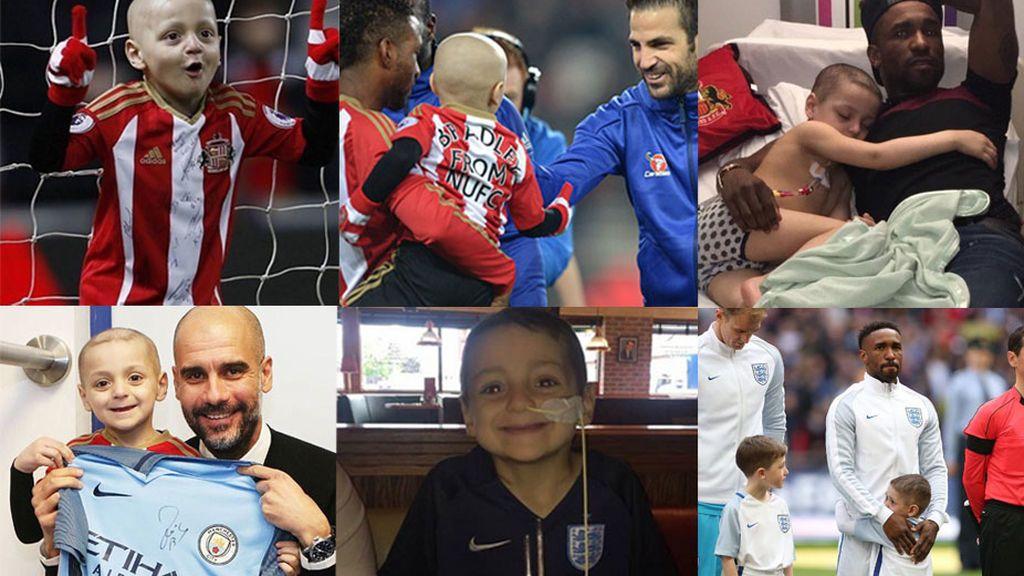 Bradley Lowery, el niño con cáncer terminal amigo de Defoe, pide ayuda a todo el mundo del fútbol
