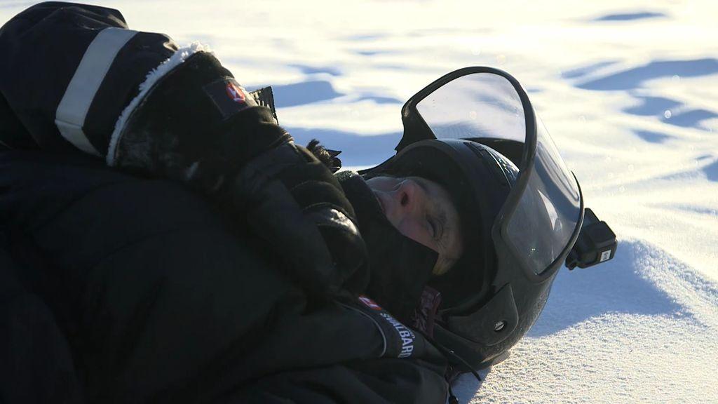 """La aventura por la nieve de Mercedes: """"¡Qué feliz soy!"""""""