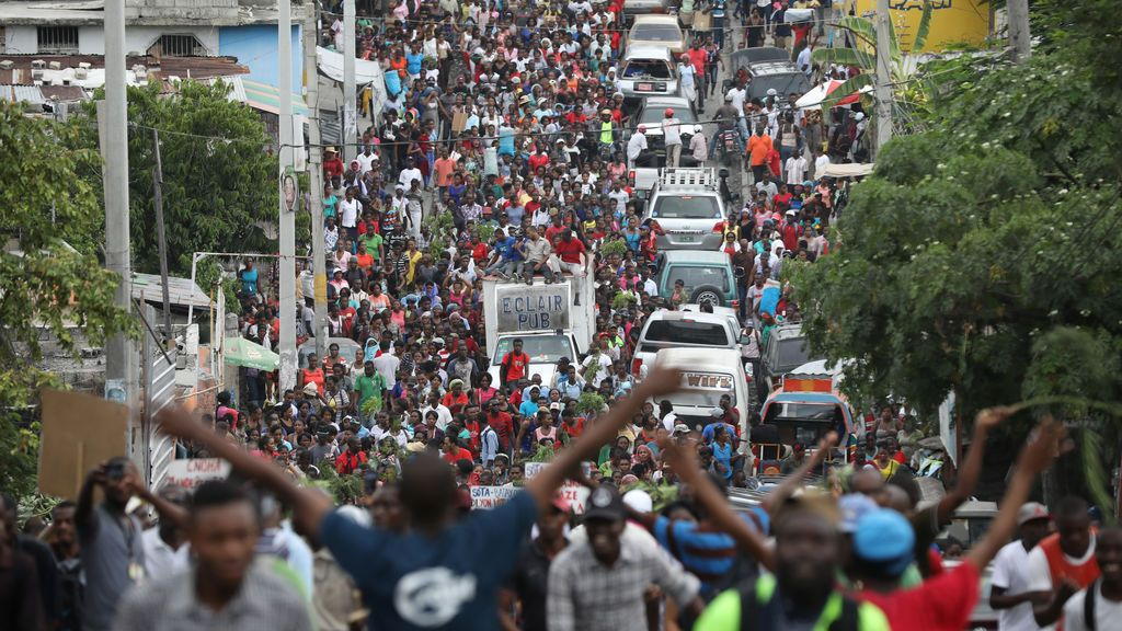 Protestas del sector textil en Haití