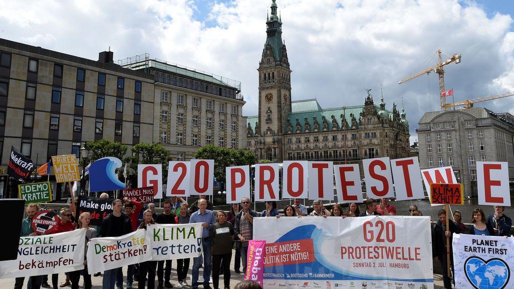 Manifestación contra la próxima cumbre del G20 en Hamburgo, Alemania