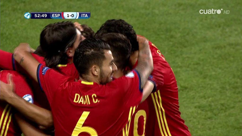 ¡Otro escándalo de jugada de Ceballos que Saúl convierte en el primero de España!
