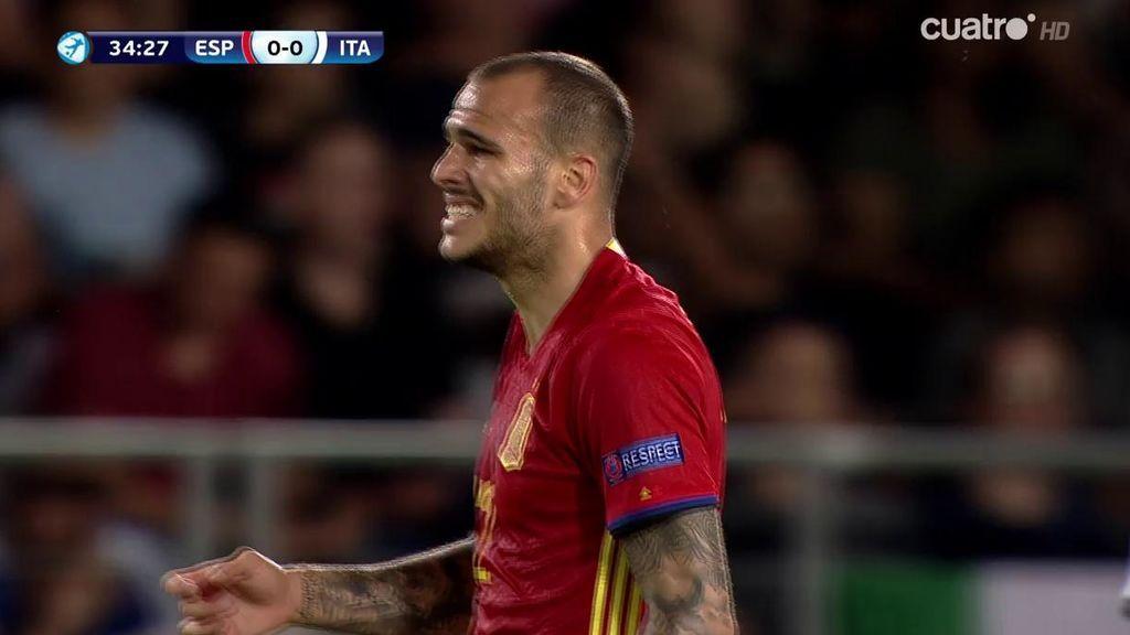 ¡Qué maravilla de Ceballos! Jugadón, 'cañito' y asistencia a Sandro: España roza el 1-0