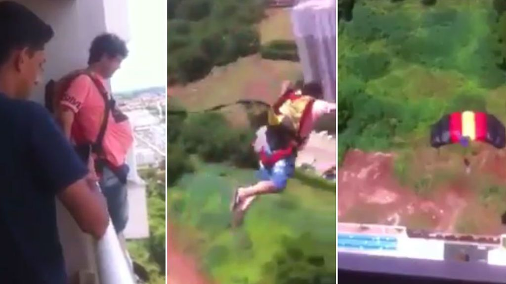 Compra un paracaídas por Internet y se lanza desde el balcón de su casa para probarlo... ¿Qué ha pasado después?