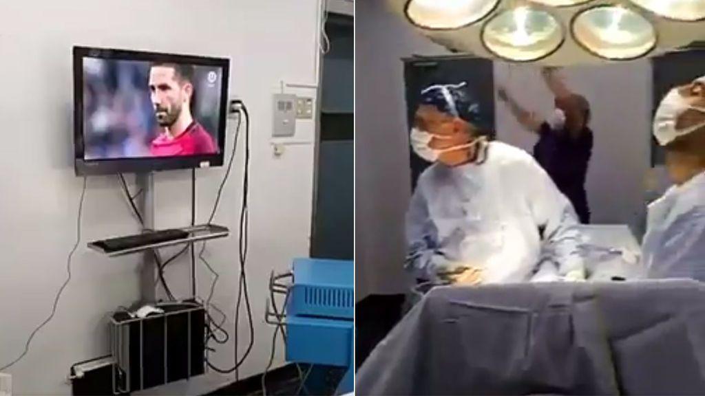 Dos cirujanos paran una operación para… ¡ver y celebrar la victoria de Chile ante Portugal!