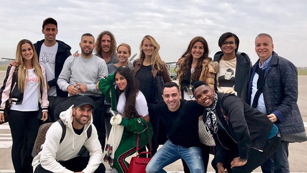 ¡La 'family' blaugrana, ya en Argentina para la boda de Messi y Antonella! Así lo están pasando