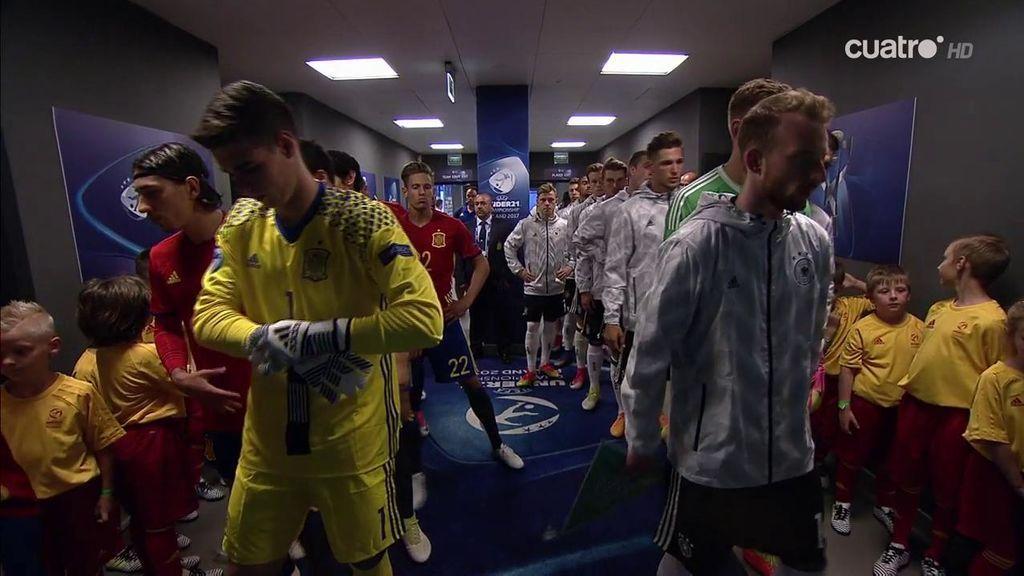 """Los jugadores españoles, en el túnel de vestuarios: """"¡Todo lo que han dicho sobre nosotros, vamos a callarles, va!"""""""