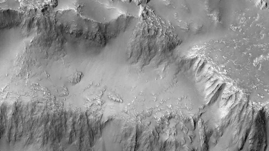 Las 'Cataratas del Niágara' marcianas