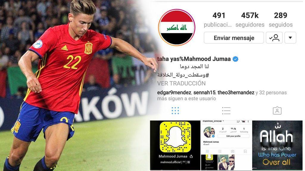 """¡Surrealista! El Instagram de Marcos Llorente es hackeado por iraquíes: """"Allah es el único"""""""