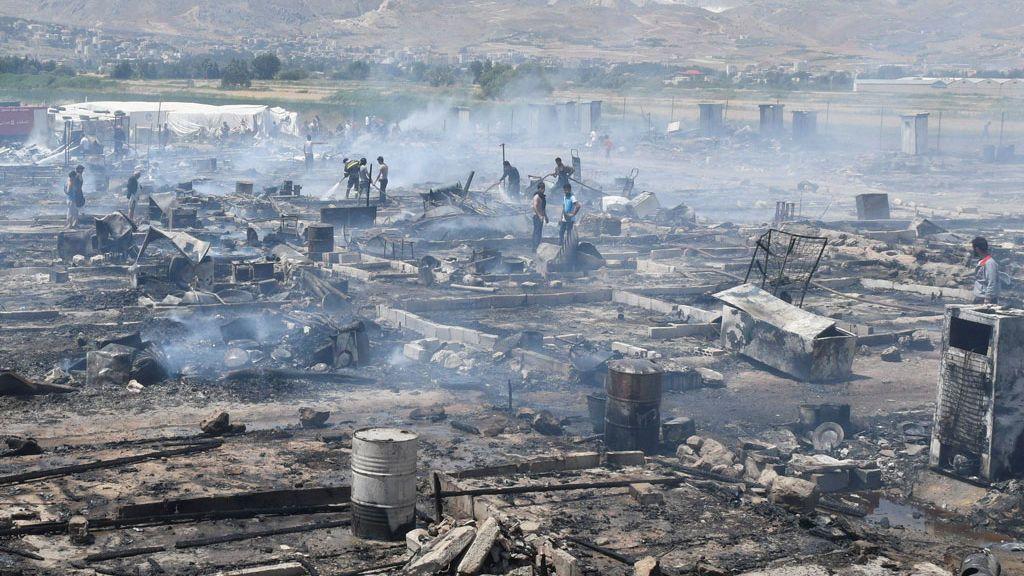 Campo de refugiados en Líbano