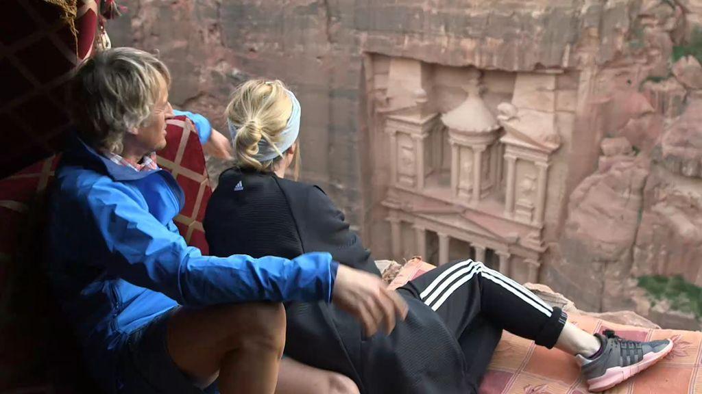 """Jesús Calleja le muestra a Blanca Suárez el lugar más especial de Petra: """"Inolvidable"""""""